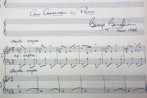 Detail of the duo piano version of An American in Paris