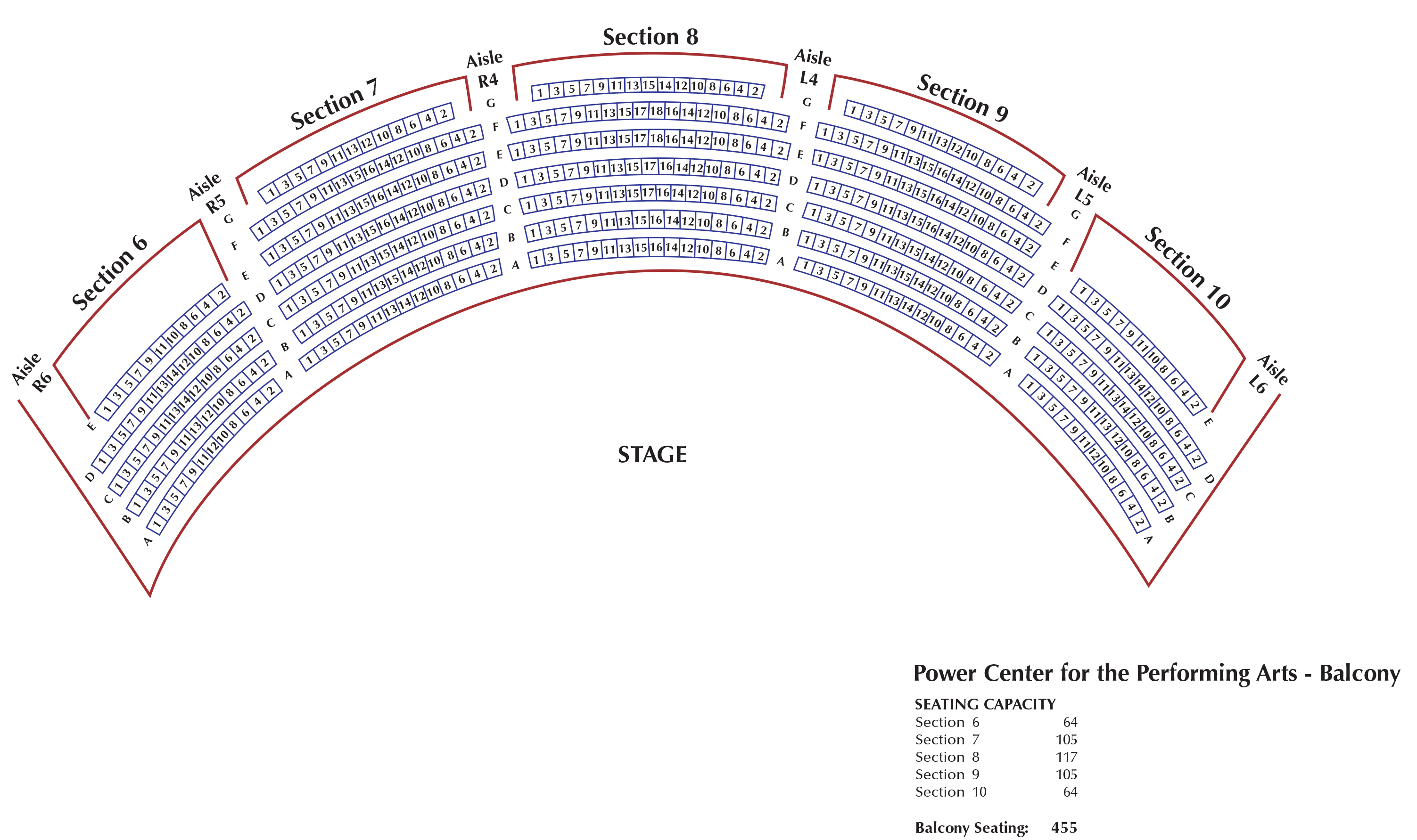Power Center U M School Of Music Theatre Dance The First One Has A Diagram Showing Steps At Http Www Seating Charts