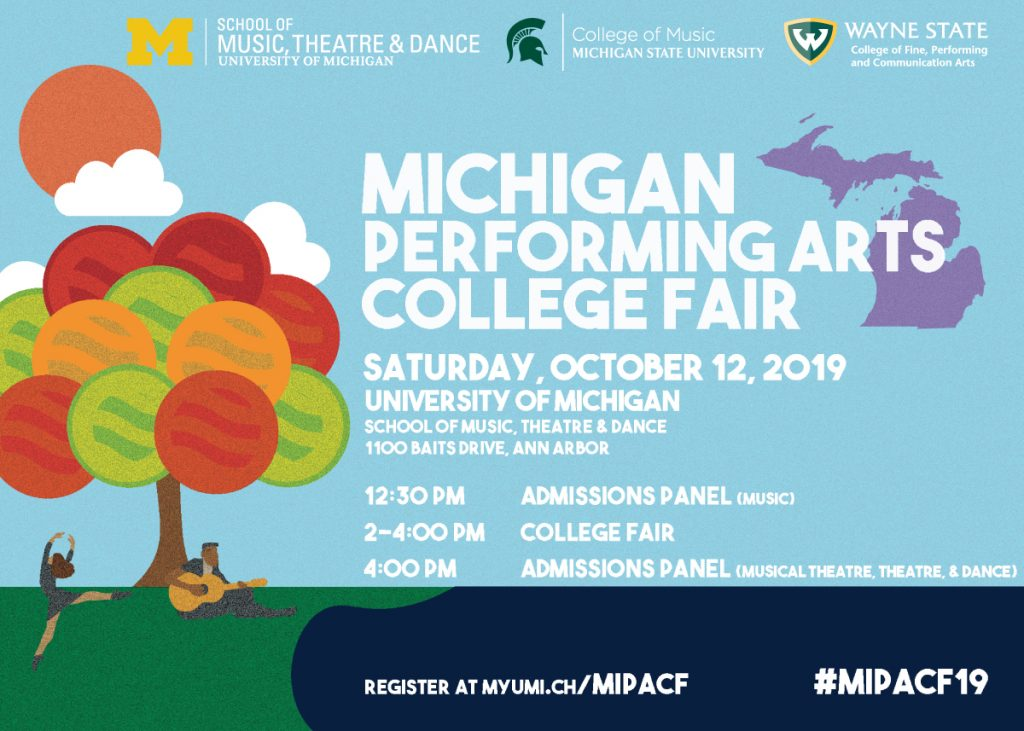 Michigan Performing Arts College Fair U M School Of Music