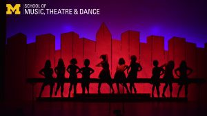 ZOOM background - Musical Theatre performance - silhouette Hey Big Spender from Sweet Charity