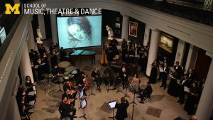Zoom background - Chamber Choir at the U-M Museum of Art,
