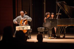 Anthony Elliott, cello, and Toni-Marie Montgomery, piano, in concert.