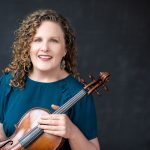 Kirsten Docter posed with viola