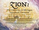 ZION: The University of Michigan Saxophone Ensemble